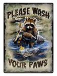 Wash Your Paws Tin Sign