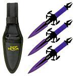 3 - pc. Venom Throwing Knife Set - Purple
