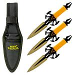 3 - pc. Venom Throwing Knife Set - Yellow