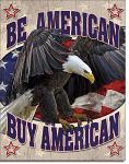 Buy American - Tin Sign