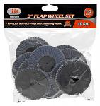 "3"" Flap Wheel Set - 40 Grit"