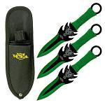 3-pc. Throwing Knife Set - Green