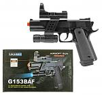 G153BAF Spring Powered Airsoft Handgun - Black