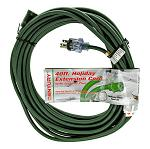 40' Extension Cord - Holiday Green