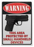 Warning This Area Protected Tin Sign