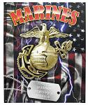 Once a Marine Always a Marine Tin Sign
