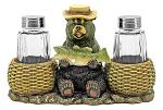 Bear Catch Salt and Pepper Shaker Holder