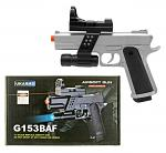 G153SAF Spring Powered Airsoft Handgun - Silver