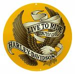 Harley Davidson Live To Ride Eagle Tin Sign