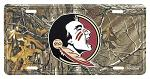 Florida State Seminoles Real Tree Camo License Plate