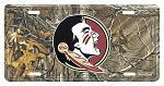 Florida State Seminoles Real Tree Camo License Plate