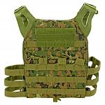 Junior Padded Tactical Vest - Green Digital Camo