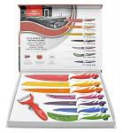 7-pc. Swiss Design Non-Stick Knife Set with Bonus Peeler