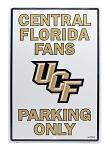 Central Florida UCF Knights Fans Parking Only Tin Sign