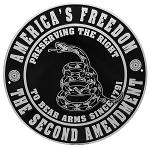 America's Freedom the Second Amendment Tin Sign