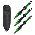3-pc. Dagger Point Throwing Knives - Green