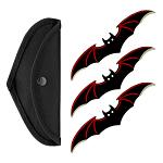 3 - pc. Bat Throwing Knife Set - Red
