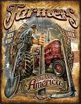 Farmers - Backbone of America Tin Sign