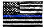 3' x 5' Thin Blue Line American Flag (Police)