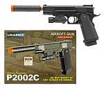 P2002C Spring Powered Airsoft Handgun - Black