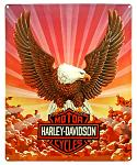 Harley Davidson Eagle with Clouds Tin Sign
