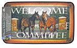 Welcome Committee Horse Door Mat