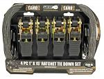 "4-pc. 1"" x 15' Ratchet Tie Down Set"
