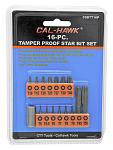 16-pc. Tamper Proof Star Bit Set