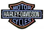 Harley Davidson Neon Lights Tin Sign