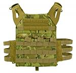 Junior Padded Tactical Vest - Tan Woodland Camo