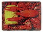 Crawfish Glass Cutting Board
