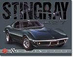 1968 Corvette Sting Ray Tin Sign