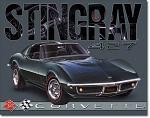 1968 Corvette Sting Ray Tin Sign