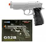 G52S Spring Powered Airsoft Handgun - Silver