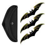 3 - pc. Bat Throwing Knife Set - Yellow