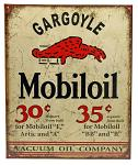 Mobil Gargoyle Tin Sign