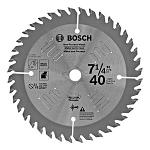 "7.25"" Bosch Circular Saw Blade with 40 Teeth"