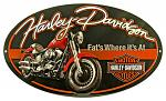 Harley Davidson Fat Boy Oval Tin Sign