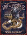 We The People Second Amendment Tin Sign