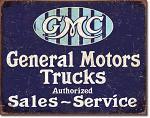 GMC General Motors Trucks Tin Sign