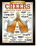 Cheers Around the World Tin Sign