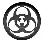 "3.5"" Biohazard Throwing Circle - Black"