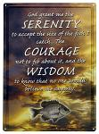 Fisherman Serenity Prayer Tin Sign