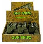 12-pc. Gun Knife Display - Black