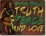 Bob Marley Tin Sign