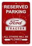 Ford Tractor Parking Tin Sign