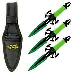 3 - pc. Venom Throwing Knife Set - Green