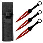 3-pc. Throwing Knife Set - Red