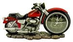 Time to Ride - Motorcycle Clock Statue