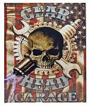 Gear Head Garage Tin Sign